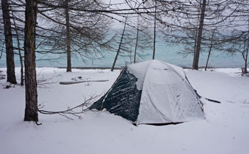 Day 6: Camping in a Snowstorm