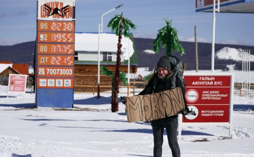 When it's -15° and you're hitchhiking Mongolia